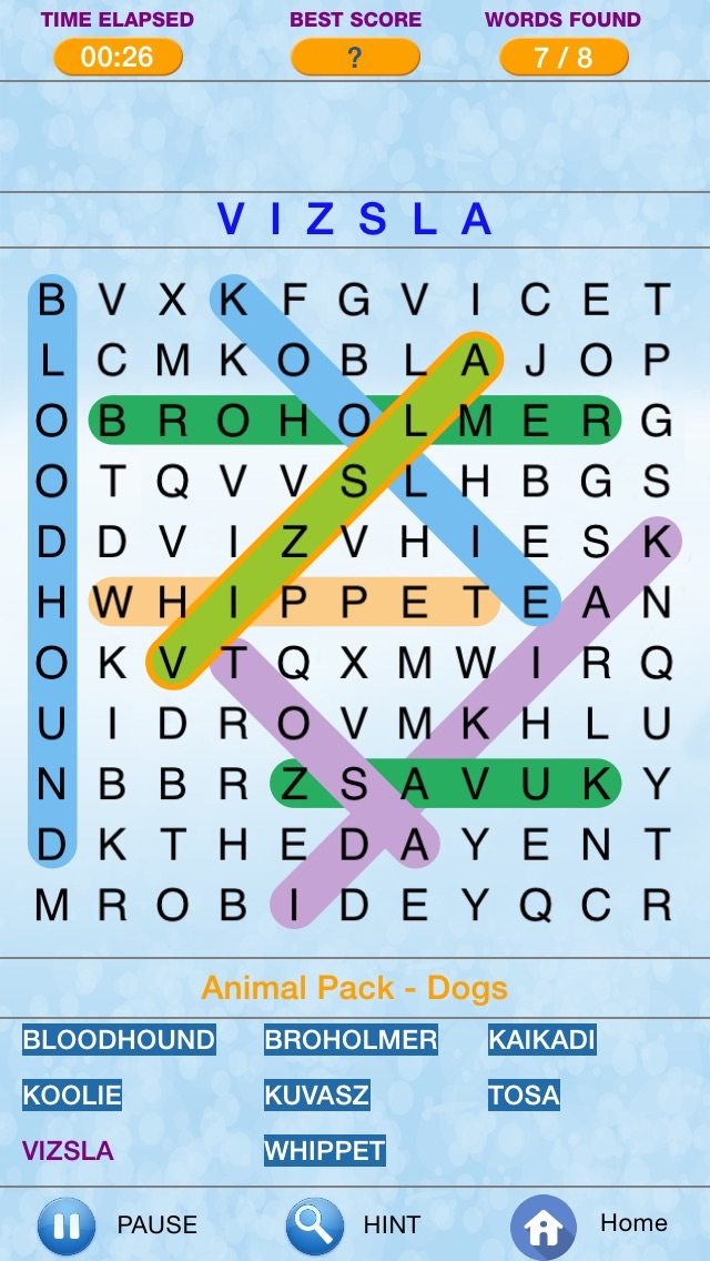 Word Search - Find Crossword Challenged  Puzzles Screenshot