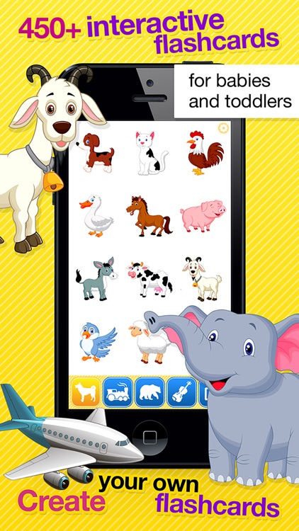 Smart Baby Touch HD - Amazing sounds in toddler flashcards of animals, vehicles, musical instruments and much more