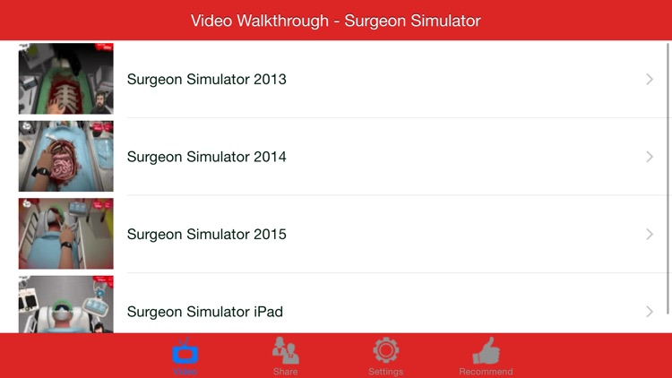Video Walkthrough for Surgeon Simulator Series