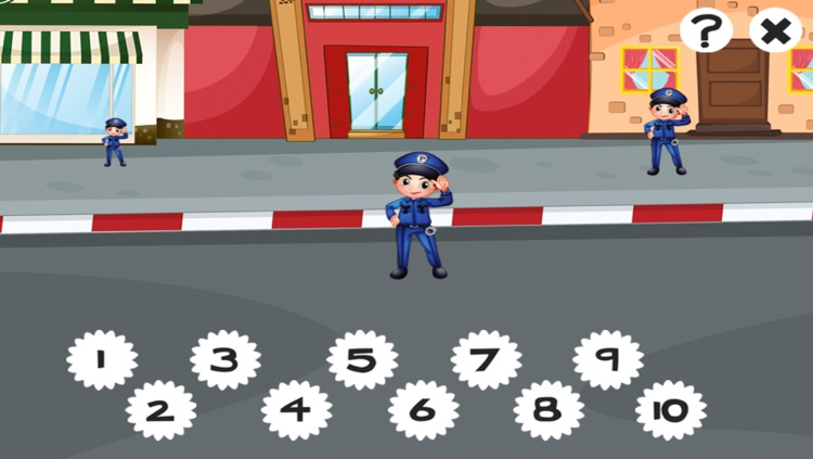 A counting game for children with police-men to learn to count 1-10 screenshot-4