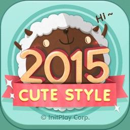 卓上カレンダー2015:キュートカレンダー
