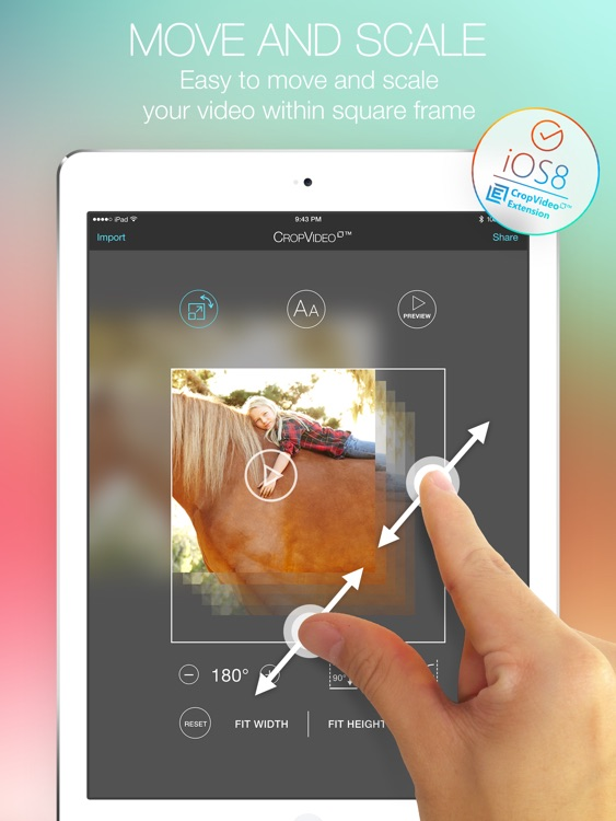 Crop Video Square PRO - Video Editor for Pinch Zoom Adjust Resize and Crop Your Movie Clip Into Square or Rectangle Size for Instagram