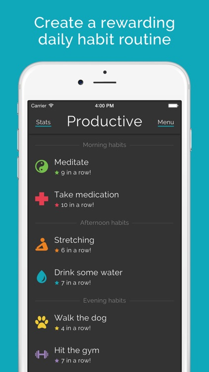 Productive habits & daily goals tracker app image
