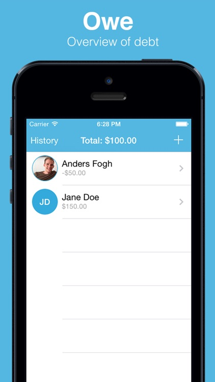 Owe - Debt tracker