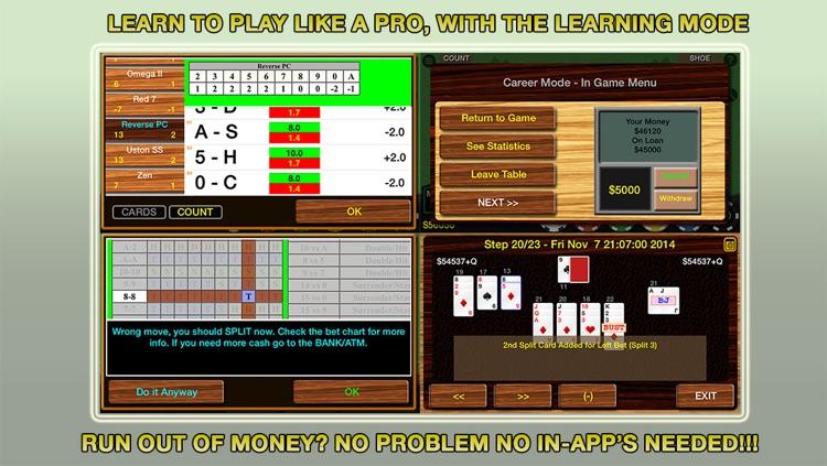 Blackjack 21 Professional Simulator (21 Pro Sim) (Vegas Casino Fun) screenshot-3