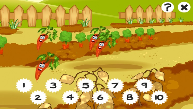 A Garden Counting game for children: Learn to count the numbers 1-10