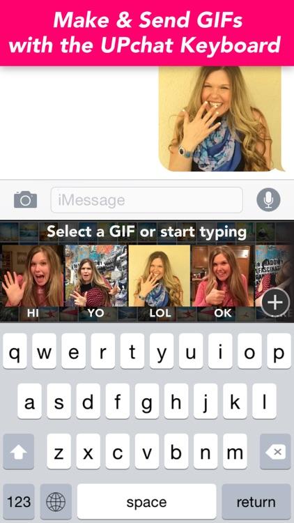 UPchat GIF Keyboard - Make, Send & Find GIFs
