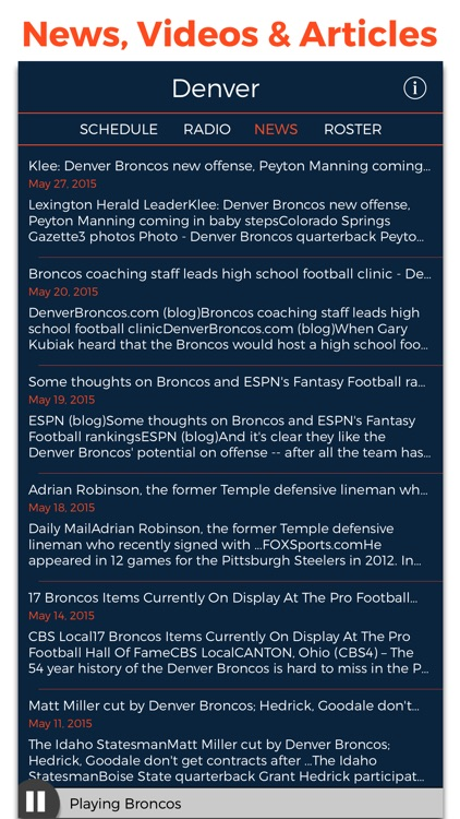 Denver Football Radio & Live Scores screenshot-4