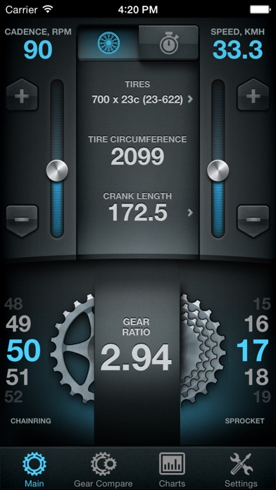 Bike Gear Calculator - Bike Gears, Cycling Gear Calculator, Bicycle Gear Calculator Screenshot 2