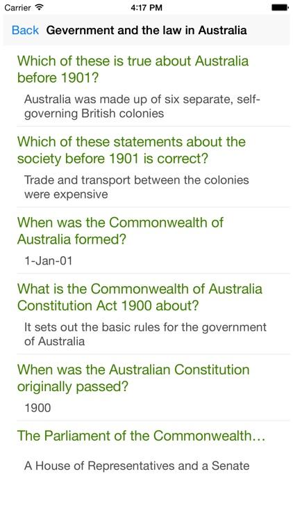 Australian Citizenship Test: Our Common Bond screenshot-4
