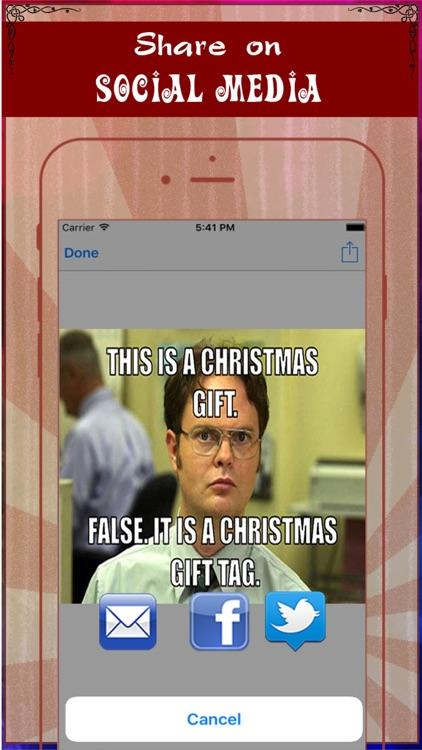Xmas Meme Photo Generator- Add Caption to Photo & Make Troll Face screenshot-3