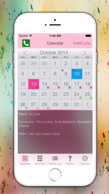 Period Tracker Logs - Monthly Cycles Menstrual Calendar & Ovulation Fertility Diary