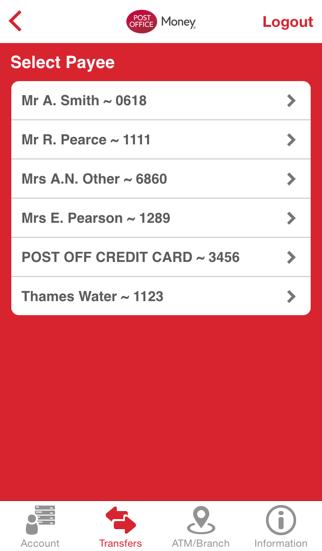 Post Office Money Current Account screenshot four
