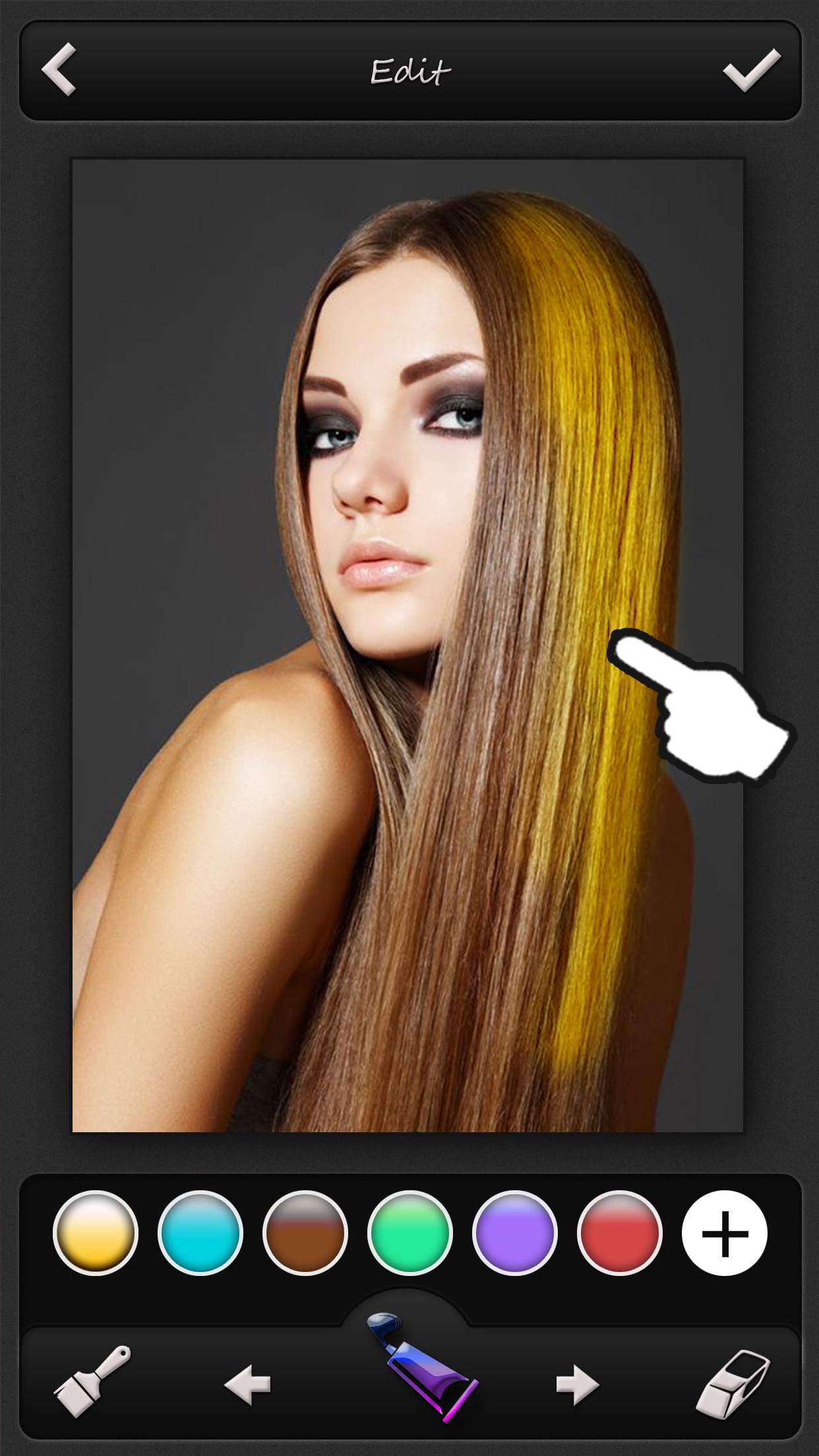 Hair Color Changer - Recolor Booth to Dye, Change & Beautify Hairstyle Screenshot