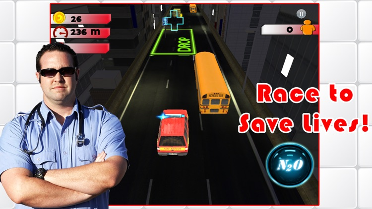 3D Rescue Racer Traffic Rush - Ambulance, Fire Truck Police Car and Emergency Vehicles : FREE GAME