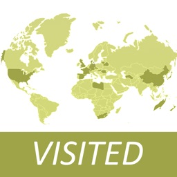 Visited Countries Map - World Travel Log for Marking Where You Have Been