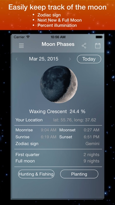 Moon Phase Calendar . screenshot two