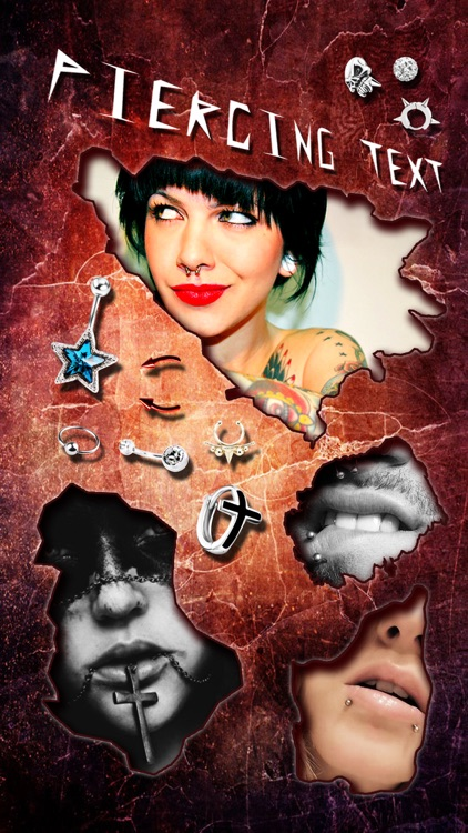 Piercing & Tattoo Booth FREE - Add Virtual Piercings & Tattoos to make body art inked or pierced