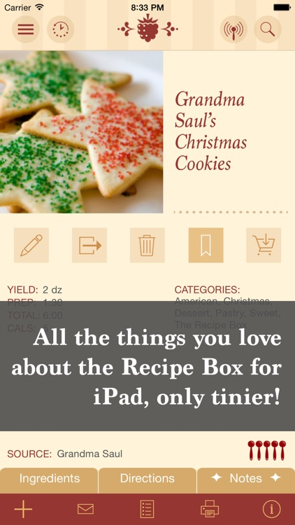 The Recipe Box To Go — Your Pocket, Your Recipes screenshot-0