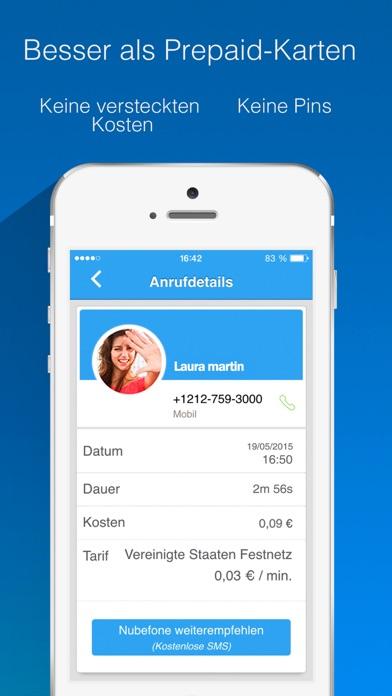 Nubefone: Billige internationale und lokale AnrufeScreenshot von 5