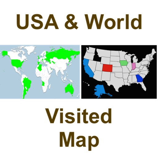 Visited USA States and World Countries Pro