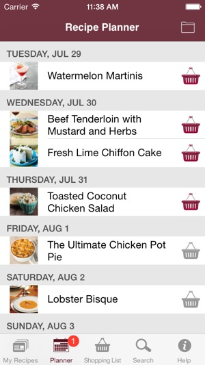Whats For Dinner Recipe Cookbook And Shopping List On The App Store