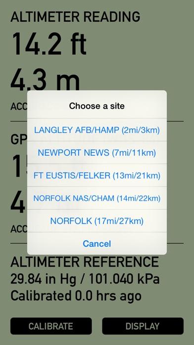 Pro Altimeter - Barometric Altimeter with Manual/GPS/METAR Calibration screenshot four