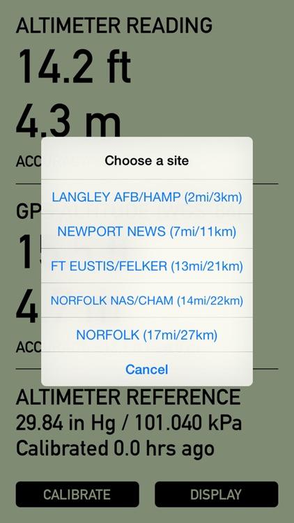 Pro Altimeter - Barometric Altimeter with Manual/GPS/METAR Calibration screenshot-3