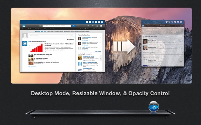 MenuTab for LinkedIn - Your Business Profiles, Contacts, Network & More in  Menu Bar
