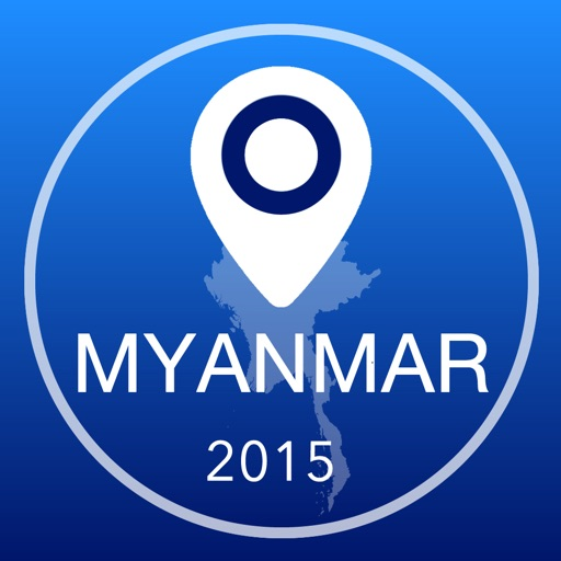 Burma Offline Map + City Guide Navigator, Attractions and Transports