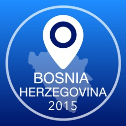 Bosnia and Herzegovina Offline Map + City Guide Navigator, Attractions and Transports