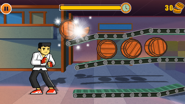Barrel Kick Fighter 2: An addictive arcade style action free game, game for IOS