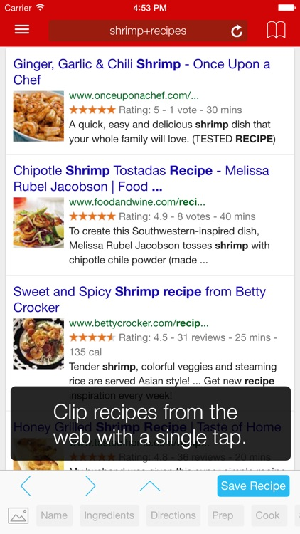Paprika Recipe Manager for iPhone app image