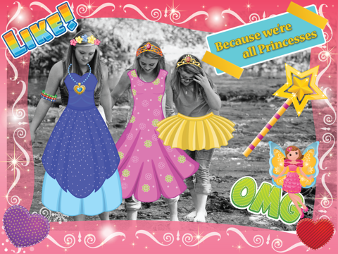 My Princess Photo Booth- Dress up props and stickers editor