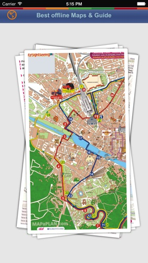 ‎Florence Tour Guide: Best Offline Maps with Street View and Emergency Help  Info