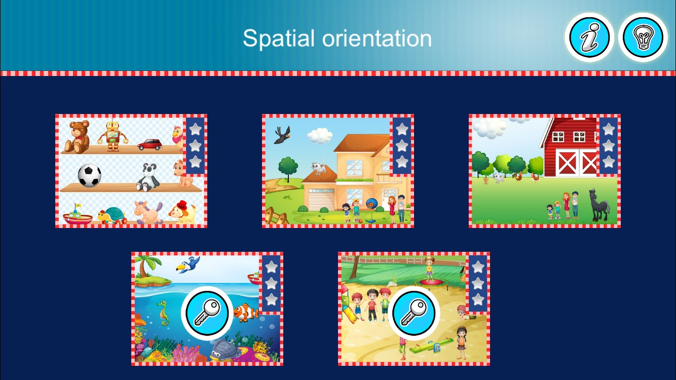 Spatial orientation Screenshot