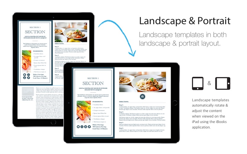 Cookbook Templates iBooks Author Edition | App Price Drops