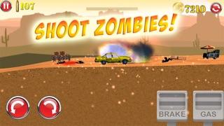 3D殭屍射擊車公路賽車遊戲 - 免費屏幕截圖1