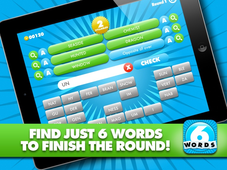 Just 6 Words HD - Use the syllables and build the words