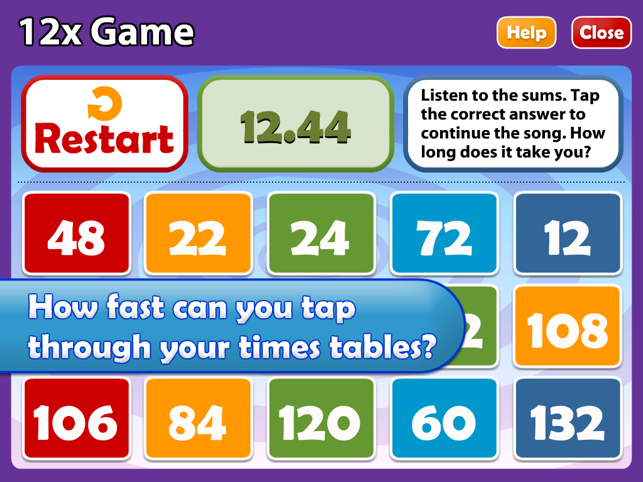 Math songs times tables 7x 12x hd on the app store for 12 times table song youtube
