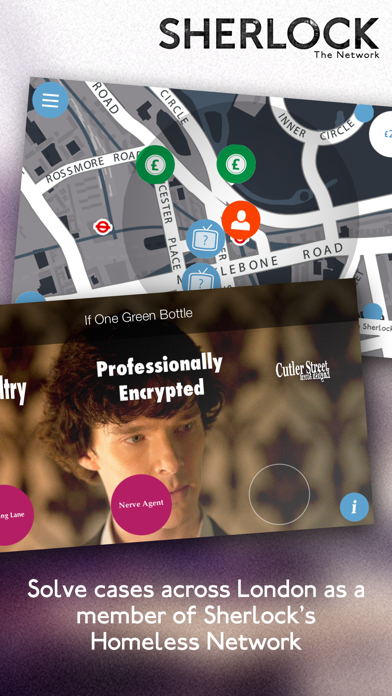Sherlock: The Network. Official App of the hit TV detective series screenshot
