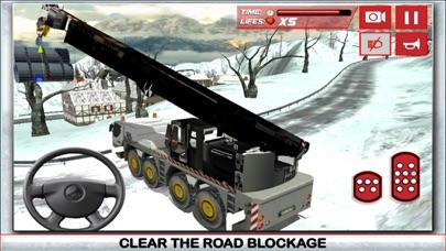 Nieve simulador de conductor de camión 3D - Conducir el gran grúa y aclarar el hielo de la carretera congeladaCaptura de pantalla de1