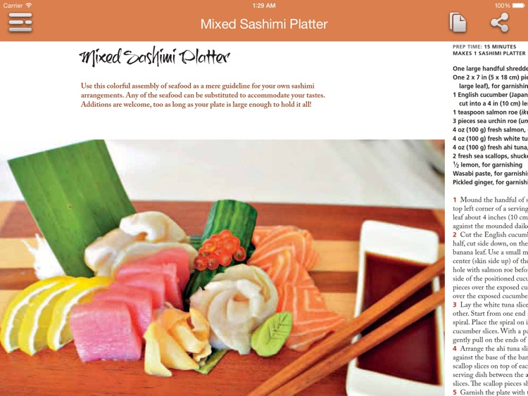 Sushi Recipes for iPad screenshot-4
