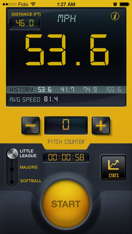 Baseball Speed Radar Gun Pro By CS Sports screenshot-1