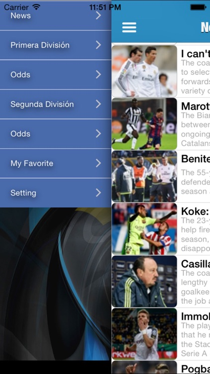 Spanish Football league 2015/16 Odds,Fixtures & Results screenshot-0