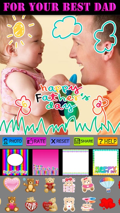 Lovely Father's Day Photo Frames screenshot-4