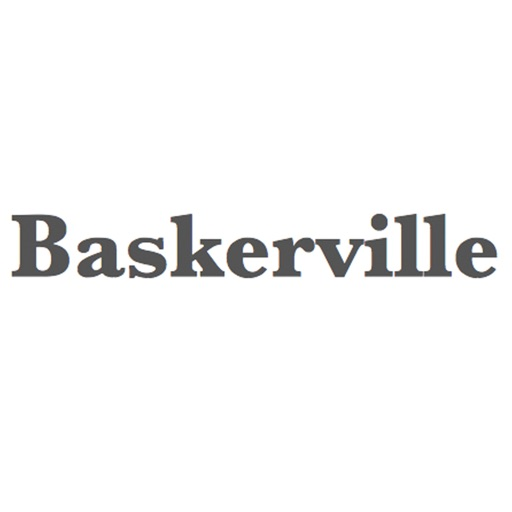Keyboard of Baskerville Font: Artistic Style Keys for iOS 8