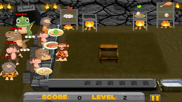 A Dinosaur Island Village Diner FREE - The Dino Age Cave-Man Food Game