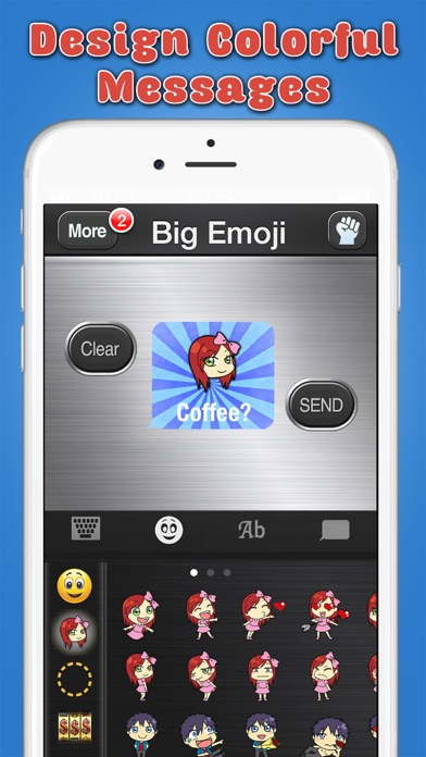 Big Emoji Keyboard - Stickers for Messages, Texting & Facebook-2