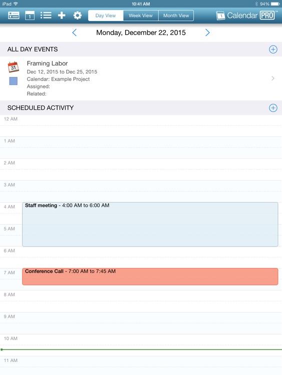 OnSite Calendar Pro